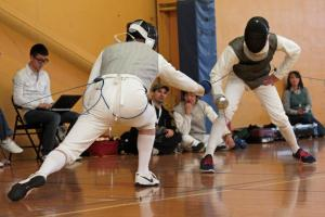 Mark Brandyberry of River City Fencing Scores