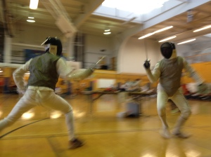 Mark Brandyberry, Right.  Foil Fencing