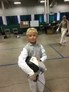 Young fencer at work